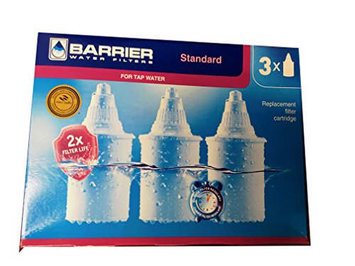 Barrier 3 Bundle Replacement Water Filter Cartridge - For Premia And Grand, Each Filter Filters up to 95 Gallons of H2O