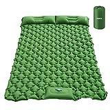 HOMCA Sleeping Pad for Camping - Hand or Foot Self Inflating Camping Mat Durable Waterproof Backpacking Sleeping Pad for Tent Hiking Camp Travel (Green) (Color: Green)