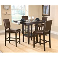 Hillsdale Arcadia 5-Piece Counter Height Dining Set w/Parson Stool