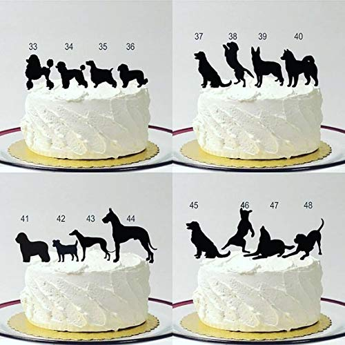 Mr /& Mrs Cake Topper Wedding Cake Topper Personalized with Peg Dog Choice Bride in Flowing Wedding Dress Choose Your Dog Breed Silhouette