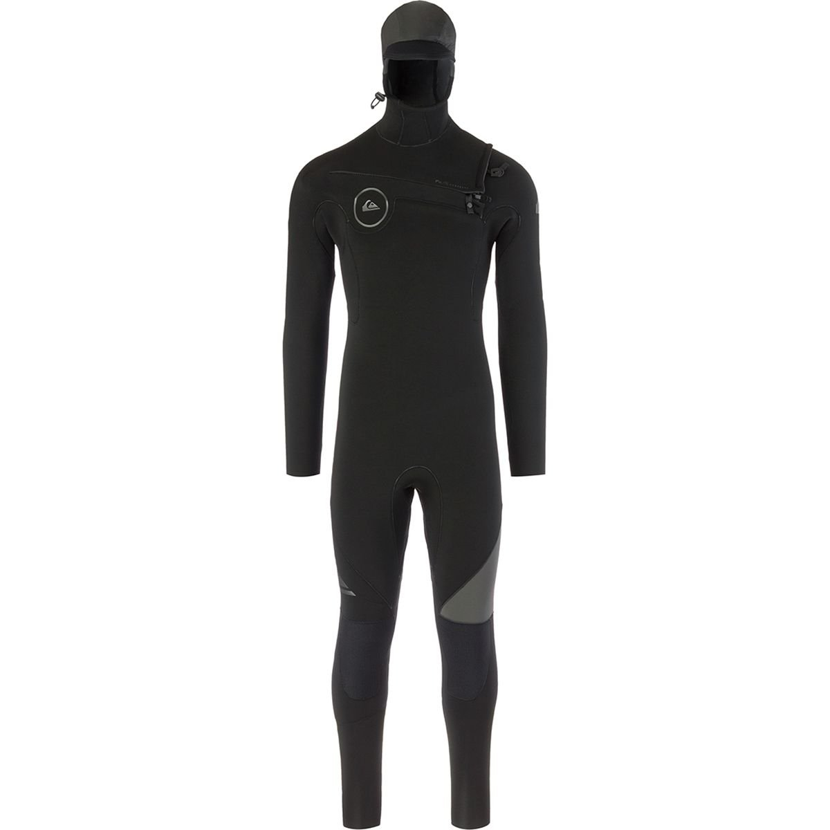Quiksilver 5/4/3mm Syncro Series Chest Zip GBS Hooded Men's Full Wetsuits - Black/Jet Black/Medium by Quiksilver