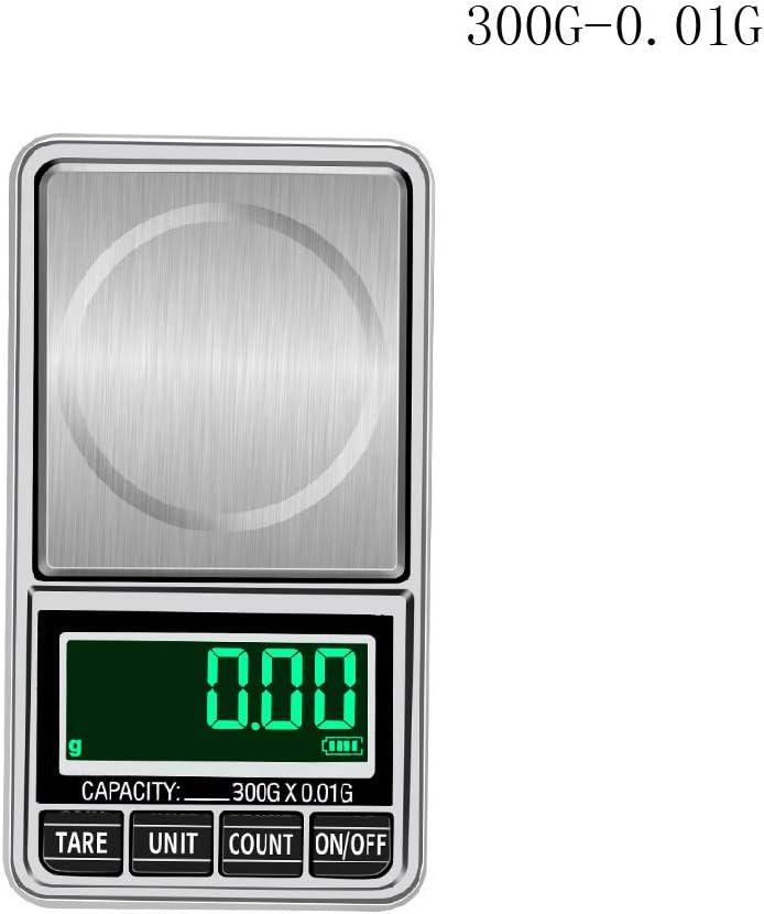 BIlinli 0,1//0,01 g Mini-USB-Digitalwaage Hohe Pr/äzision zum Wiegen von Pulverschmuck