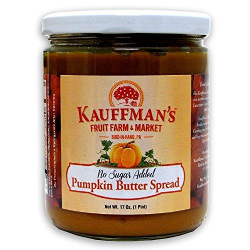 Kauffman's Homemade Pumpkin Butter, No Sugar Added, 17 Oz. Jar (Pack of 2 Jars)