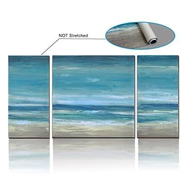 cubism- 3 Panels Seascape Canvas Prints(UnStretch / No Frame) Landscape Pictures Paintings Canvas Wall Art Sea Beach Pictures Artwork for Home Decor