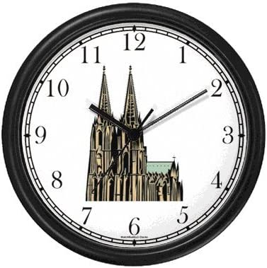 Cologne Church – Germany – Famous Landmarks – Wall Clock by WatchBuddy Timepieces White Frame