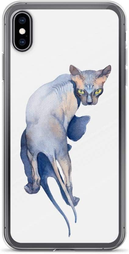 Sphinx cat with geometric design iPhone 11 case