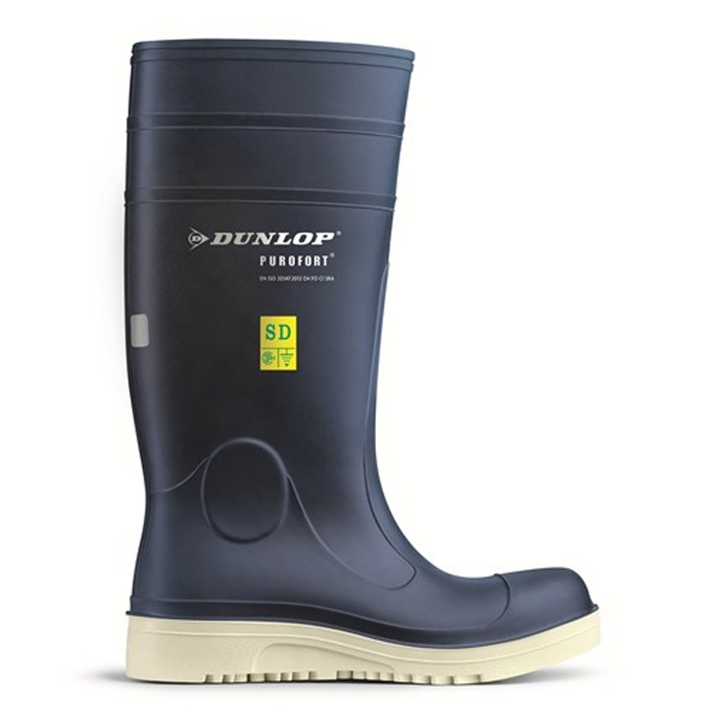 Purofort Comfort Grip Work Safely Blue Shoes F260673 Size - 4 by Dunlop