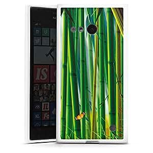 Nokia Lumia 1020Funda Silicona Case Protección cover bambú Mariposas Natural
