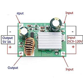 DC-DC Step-down Converter 120V 96V 84V 72V 60v 48v 36v to 5V 12v 24v USB POWER