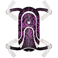 Skin For ZEROTECH Dobby Pocket Drone – Purple Style   MightySkins Protective, Durable, and Unique Vinyl Decal wrap cover   Easy To Apply, Remove, and Change Styles   Made in the USA