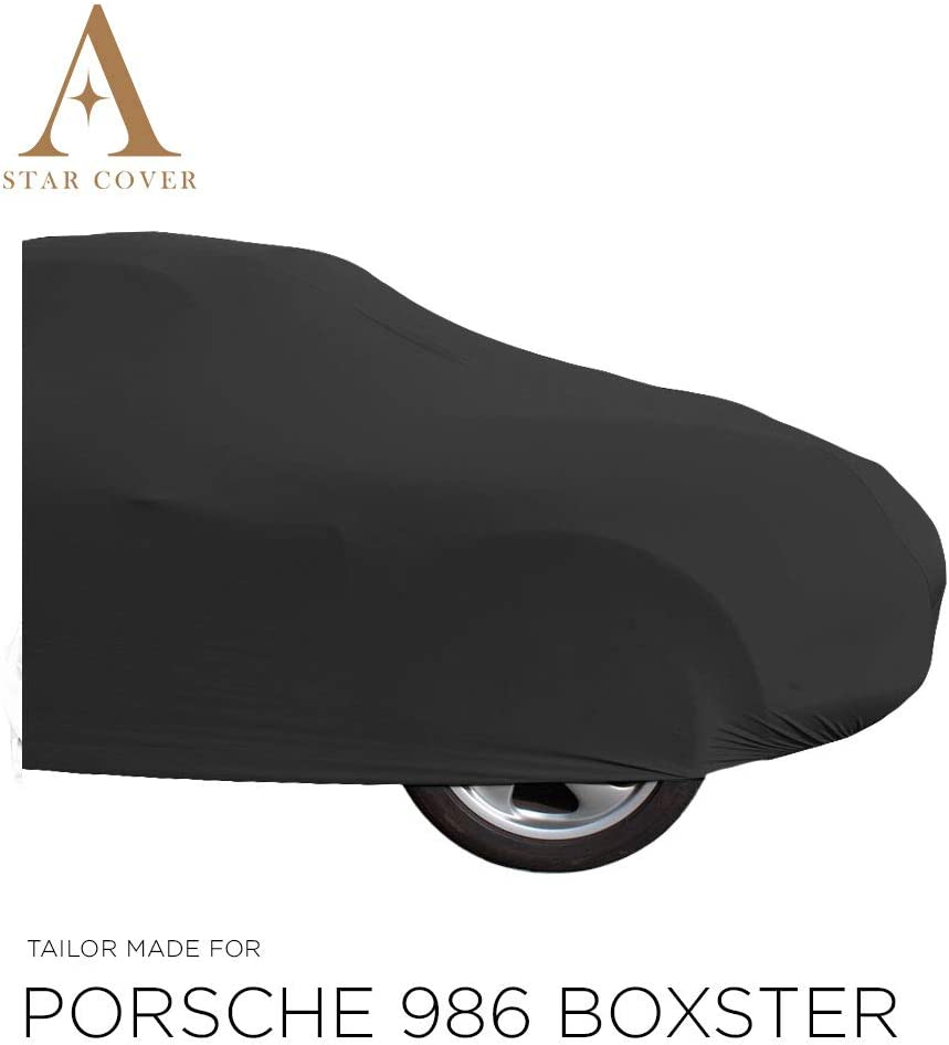 B/ÂCHE Auto Garage LIVR/É Rapide Noir Housse Housse Cabriolet Star Cover Housse INT/ÉRIEUR Compatible avec Porsche Boxster 986 avec Manchons DE R/ÉTROVISEURS Voiture DE Sport Oldtimer