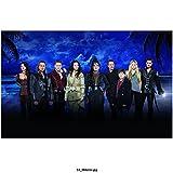 grimm cast - Once Upon a Time Emilie De Ravin, Robert Carlyle, Jennifer Morrison, Cast Line Up, Island at Night Background 8 X 10 Inch Photo