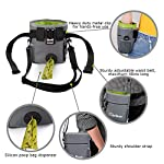 Pet Room Dog Treat Pouch Bag, Dog Walking Bag With Poop Bag Holder,Dog Training Clicker, Collapsible Silicon Dog Water…