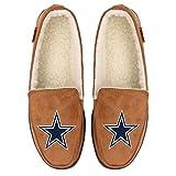 Dallas Cowboys NFL Mens Exclusive Beige Moccasin - L