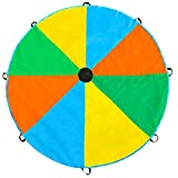 Magicfly Play Parachute Toy with 8 Handles Multicolor Parachute for Kids Play Tent, 6ft/12ft Available