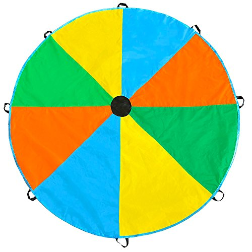 Magicfly 6 Feet/12 Feet Parachute for Kids with 8 Extra Strong Handles for Kids Play, Kids Games, Indoor/ Outdoor Games, Outdoor Toys