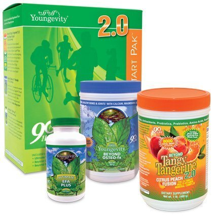 (Youngevity Healthy Body Start Pack 2.0 (Beyond Tangy Tangerine 2.0, Osteo FX Powder, Ultimate EFA Plus) (Worldwide Shipping) by Youngevity)