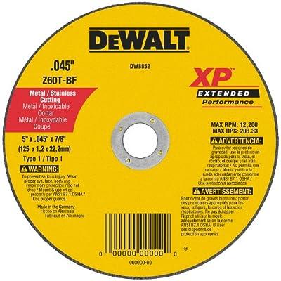 DEWALT DW8852 XP Cutoff Wheel, 5-Inch X .045-Inch X 7/8-Inch