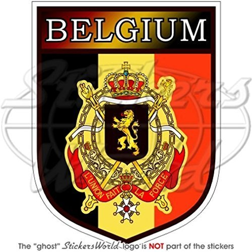 BELGIUM Belgian Belgique België Shield 100mm (4