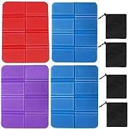 4Pcs Folding Foam Sit Mat, Thermally Insulated Folding Sit Mat Portable Seat Cushion Mat Waterproof Floor Seat