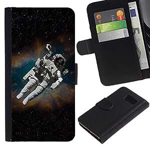 // PHONE CASE GIFT // Moda Estuche Funda de Cuero Billetera Tarjeta de crédito dinero bolsa Cubierta de proteccion Caso Sony Xperia Z3 Compact / Astronaut Cosmonaut In Space /