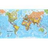 Amazon giant world megamap laminated 77 x 46 9781934006009 giant world megamap large wall map laminated and pinboard mounted gumiabroncs Gallery