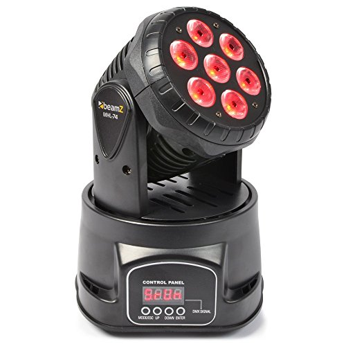 Beamz 150518 – Mhl-74 Mini Cabeza movil Wash 7X 10w DMX 13 ch Quad led