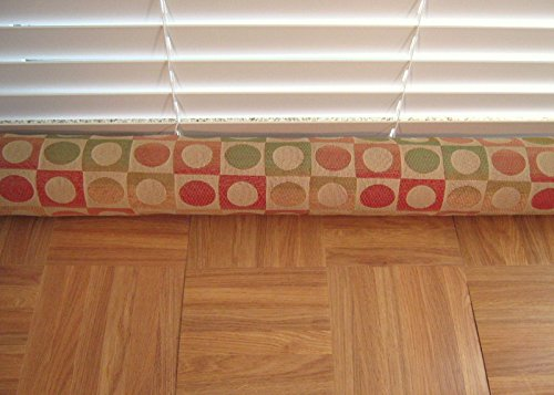 Door Draft Stopper Fabric Only Heavy Weight Upholstery Circle Geometric Design Fabric Custom Made 24