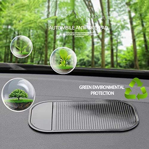 (Cell Pads Non-Stick Anti-Slide Dash Cell Phone Bracket Mat Car Dashboard Sticky Pad Adhesive Anti Mat for Mobile Phone/ Electronic Gadgets GPS, 4 PCS)