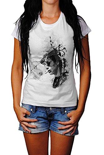 Jean-Paul Belmondo II Art T-Shirt Frauen, Mädchen mit stylischen Motiv von Paul Sinus