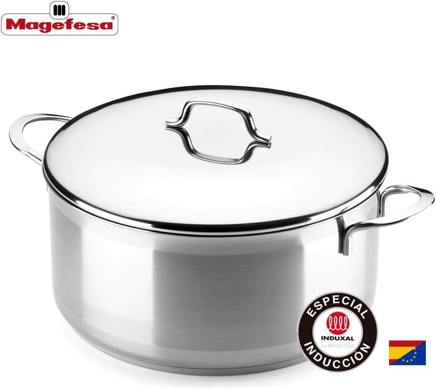 MAGEFESA MILENIUM – La Familia de Productos MAGEFESA MILENIUM está Fabricada en Acero Inoxidable 18/10, Compatible con Todo Tipo de Cocina. Fácil Limpieza y Apta lavavajillas (Cacerola, 24_cm): Amazon.es: Hogar