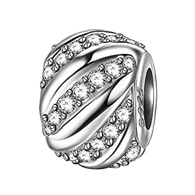 """Discount ZENI 925 Sterling Sliver Woman Charms Bead for Bracelet Necklace """"Shining Galaxy""""♥Mother's Day Gifts♥ for sale COYtWrD3"""