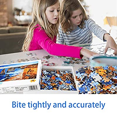 1000 Piece Jigsaw Puzzles for Kids Adult Intelligence Puzzle DIY Educational Jigsaw Modern Home Decor Unique Gift - Friendly Puppy Pattern: Toys & Games