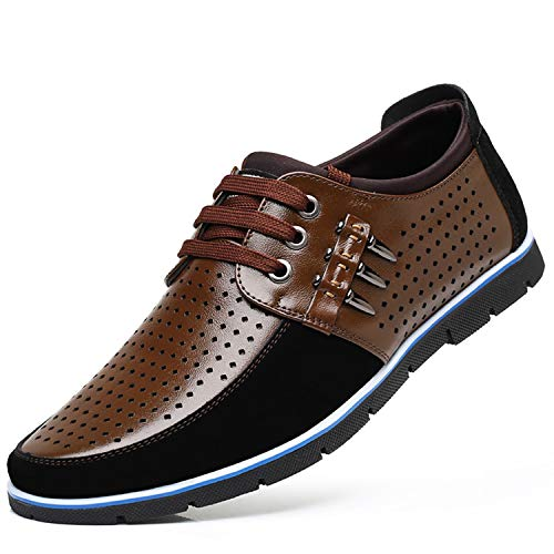 New Shoes Flat Fashion Comfortable Male Shoes Adult #GY3595 Brown 8.5
