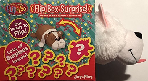 Flipazoo White Puppy Flip Box Surprise! Unbox and Flip for a Surprise! Includes Plush Flipazoo, Hat, Collar, Dog Collar Charm, Stickers, Sunglasses, Bowl and Leash!