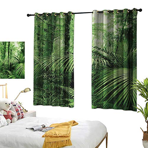 (Luckyee Blackout Draperies for Bedroom,Rainforest,72