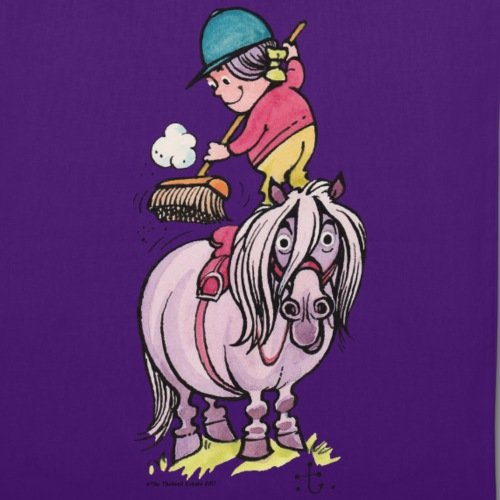 Spreadshirt Bag Tote Horse Thelwell Purple Rider Their Cleaning xp4rq8Wpwz