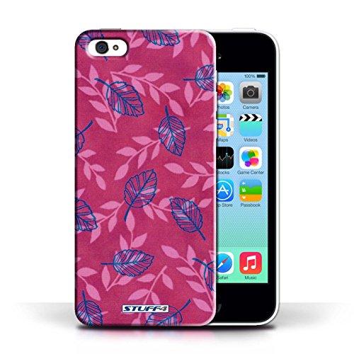 Etui / Coque pour Apple iPhone 5C / Rose/Bleu conception / Collection de Motif Feuille/Branche