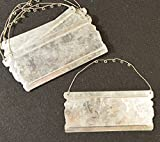 Health & Personal Care : Galvanized Metal Tags With Wire Hanger - Package of 5