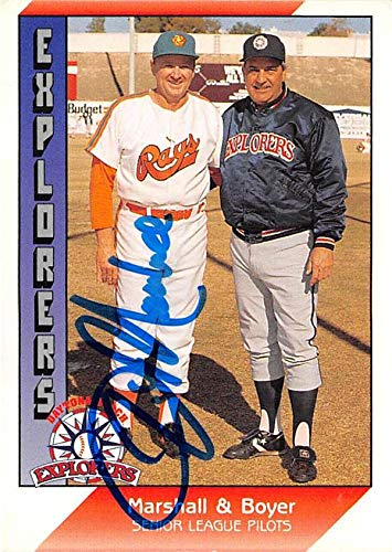 Jim Marshall autographed baseball card 1991 Pacific Senior League #54 (Sun City Rays)