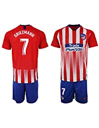 CUXS New Atlético Madrid Griezmann #7 Home Red Kids/Youth Soccer Jersey