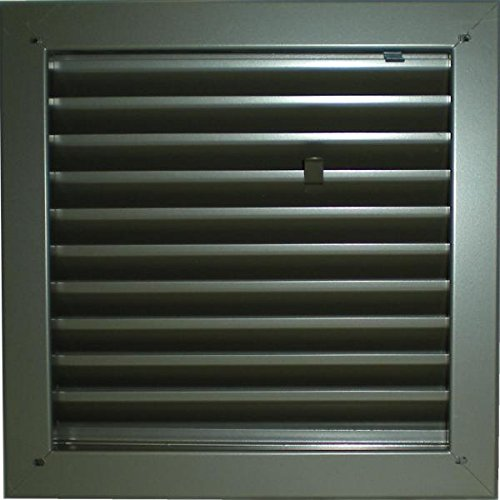Air Louver 1900A 24''(W) x 24''(H) Fire-Rated Door Vent, Mineral Bronze Finish by Air Louvers