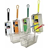 "Adcraft FBR-16834 17"" Length x 8-1/4"" Width x 6"" Depth, Fryer Basket with Yellow Handle"