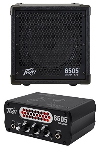 Peavey 6505 Piranha Micro Head Guitar Preamp Amplifier Tube + 8'' Speaker Cabinet by Peavey