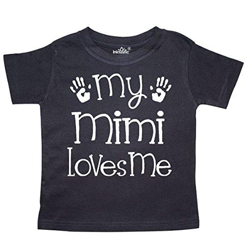 inktastic - My Mimi Loves Me Grandkids Toddler T-Shirt 5/6 Black 2d463 -