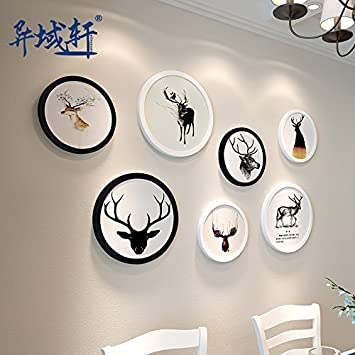 Hjky Photo Frame Set Von Wand Aus Holz Bilderrahmen Bild Kreative Wand  Verziert Weise Modernes Wohnzimmer