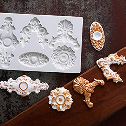 Amazon.com: Gadgets Silicone Mould Eights European Style Pattern ...