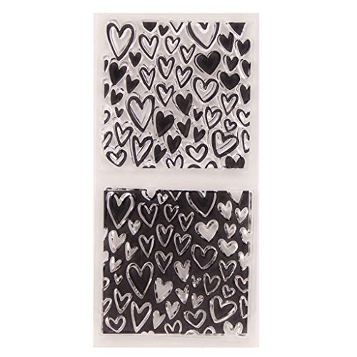 - Zoeyomg Heart Silicone Clear Seal Stamp DIY Scrapbooking Embossing Photo Album Decorative Paper Card Craft Art Handmade Gift