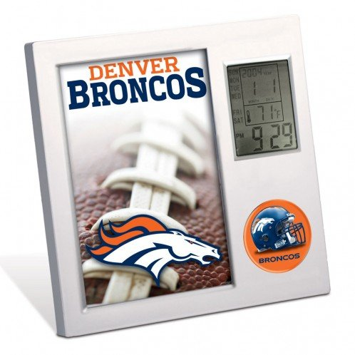 Denver Broncos Digital Desk Clock Wincraft Denver Broncos Clock