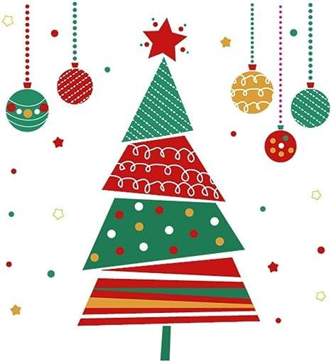 LUNULE DIY Pegatinas de pared Navidad Árbol de Navidad Grande Copos de Nieve Papá Noel Navidad Pegatina de Ventanas Feliz Navidad Escaparates Decoraciones Calcomanías para puertas y ventanas